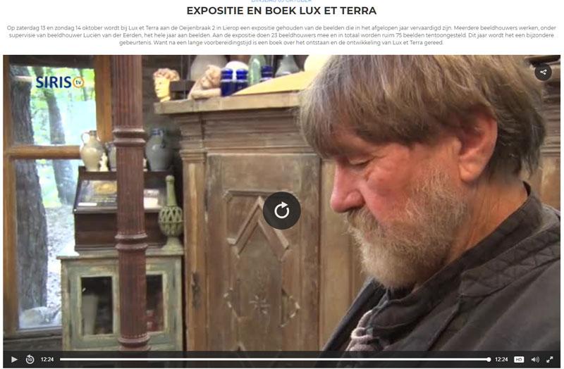 interview Lucien over de achtergronden van Lux et Terra, het boek, en de expositie